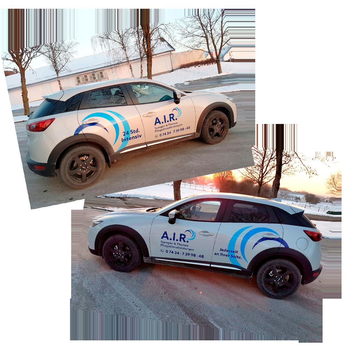 Fahrzeugbeschriftung A.I.R. Spengler & Thomas