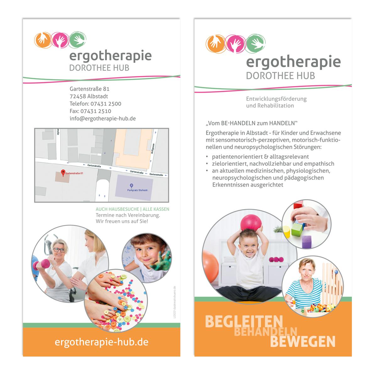 Flyer Ergotherapie Dorothee Hub