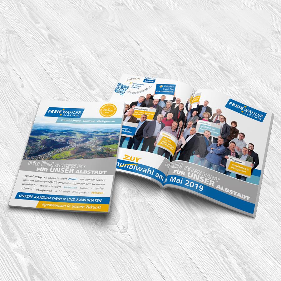 Infobroschüre der Freien Wähler Albstadt zur Kommunalwahl 2019