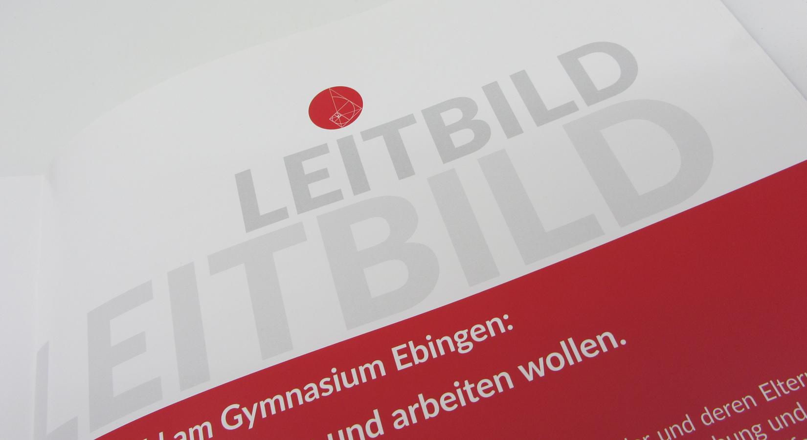 Detailansicht der Leitbildbroschüre des Gymnasiums Ebingen