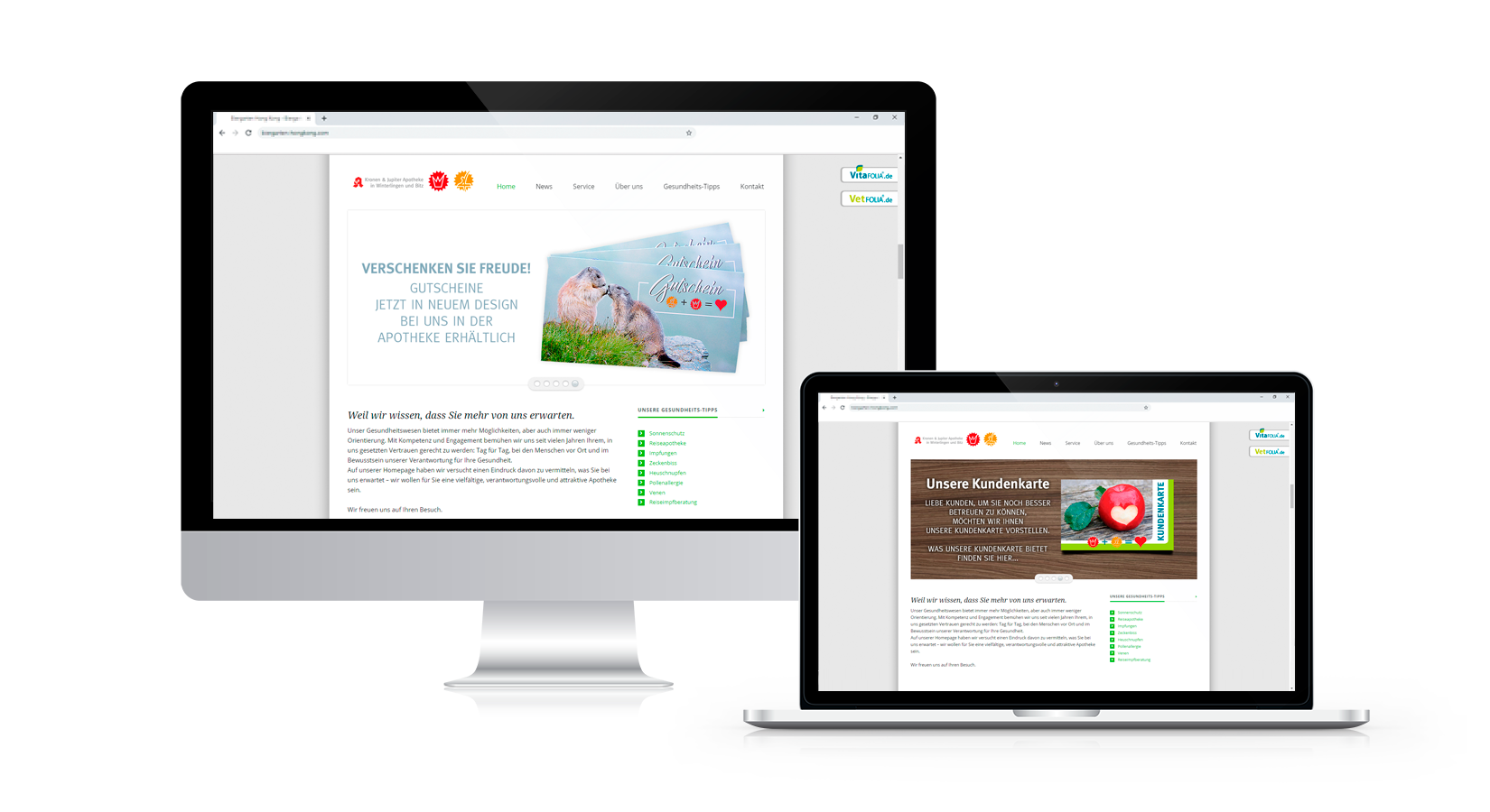 Website der Hepp Apotheken