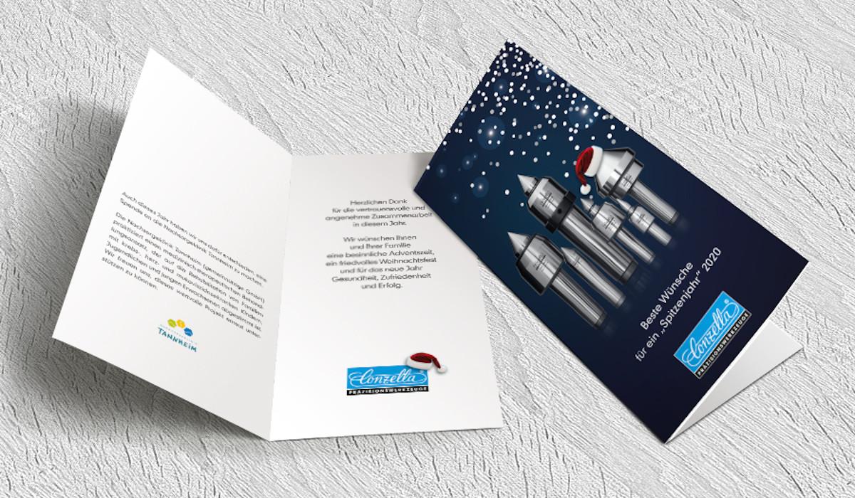Weihnachtskarte von Conzella