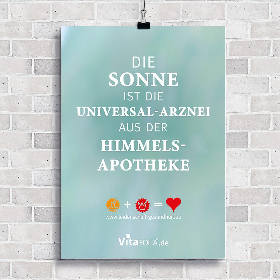 "Frühlingsplakat: ""Die Sonne ist die Universal-Arznei aus der Himmelsapotheke"""