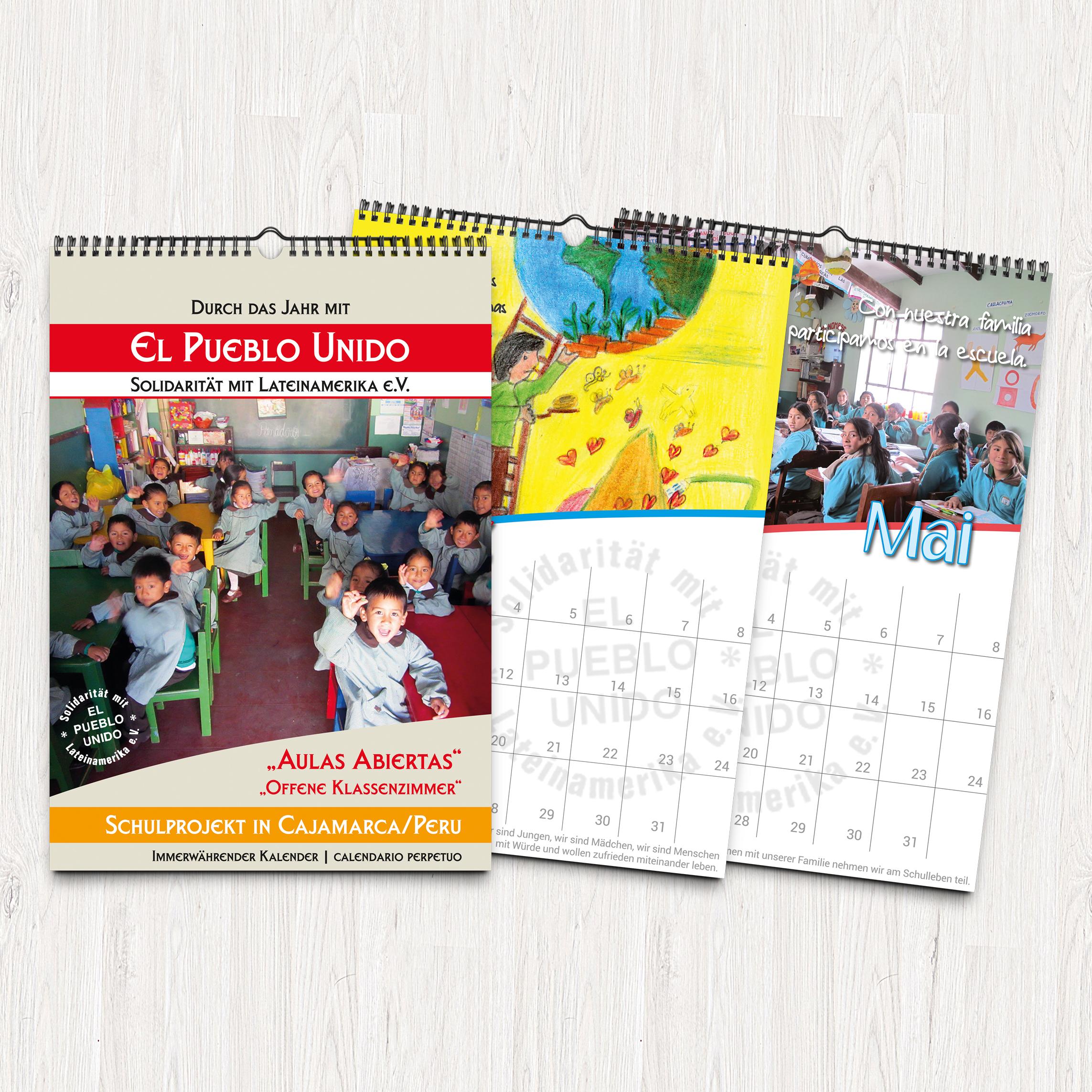 """Kalender für das Schulprojekt """"El Pueblo Unido"""""""