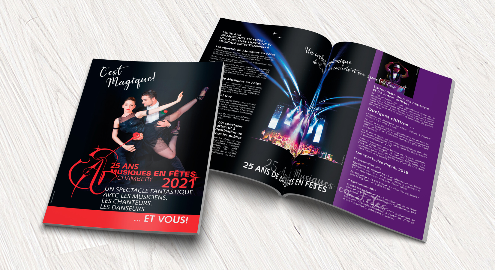 Broschüre zur Sponsorengewinnung für Musiques en Fêtes