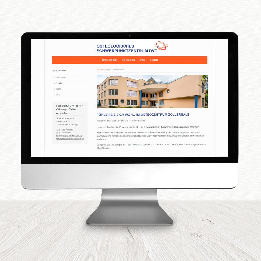 Website für die Osteopraxis Hannemann