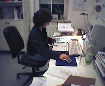 Anette Ganter im Homeoffice in der Menzelstraße