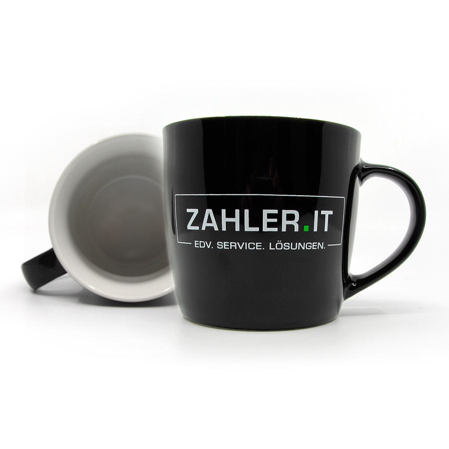 Tasse mit dem Logo von ZAHLER.IT als Give-away