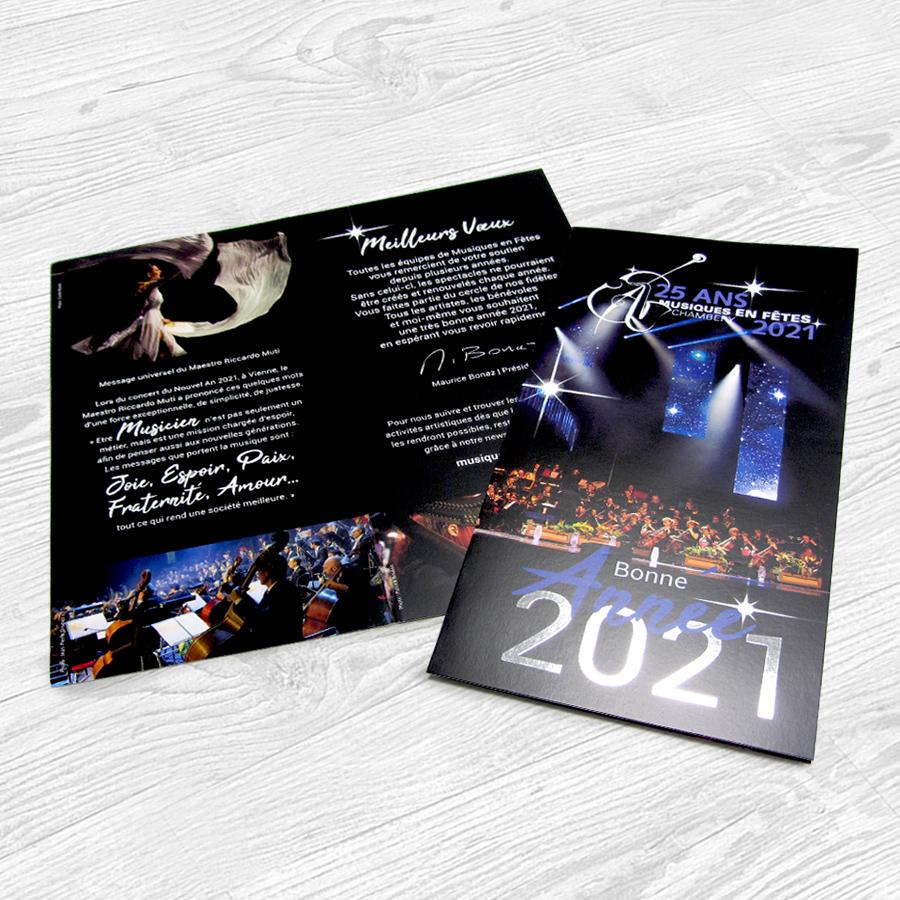 Neujahrskarte 2021 für Musiques en Fêtes