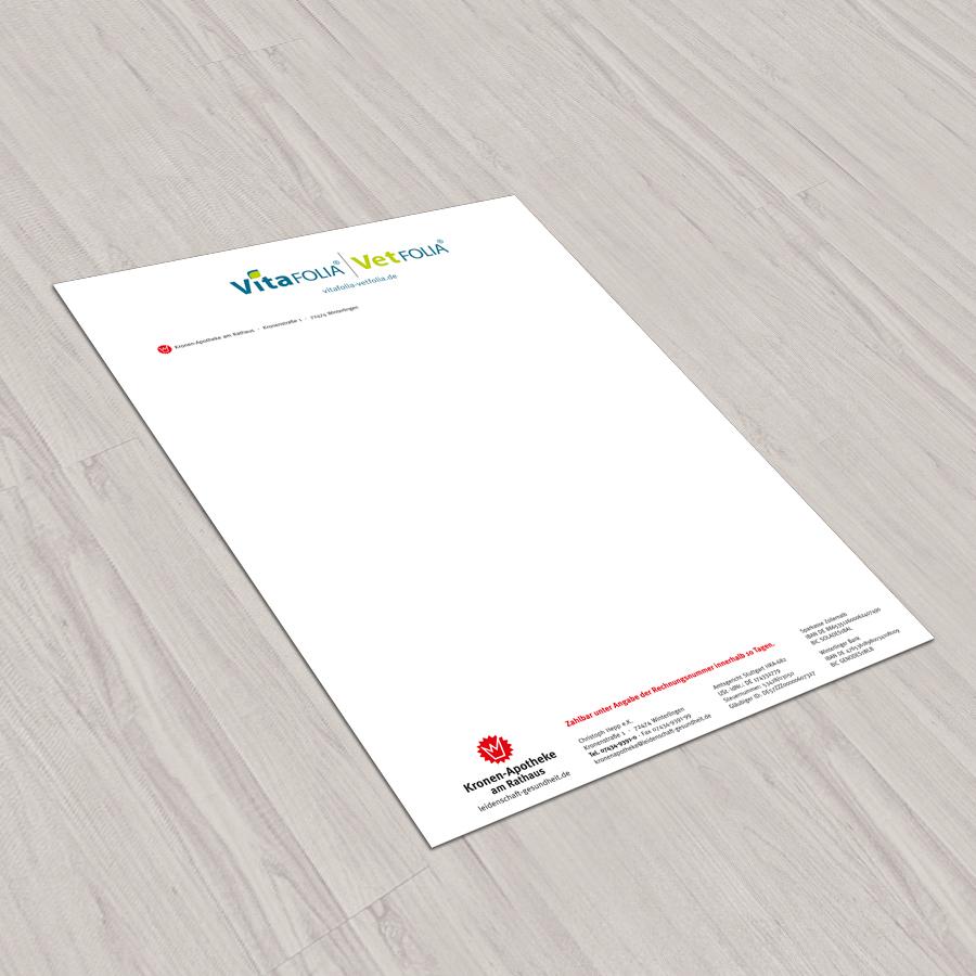 Briefbogen für Hepp-Apotheken