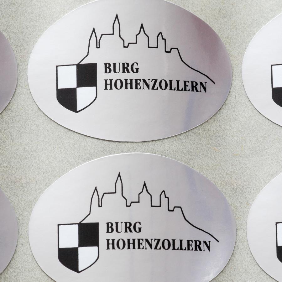 Klebeetiketten Burg Hohenzollern
